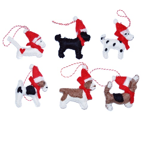 Dog Christmas Decorations 1816 P Equine Grass Sickness Fund